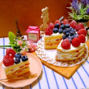 ベリーのデコケーキ