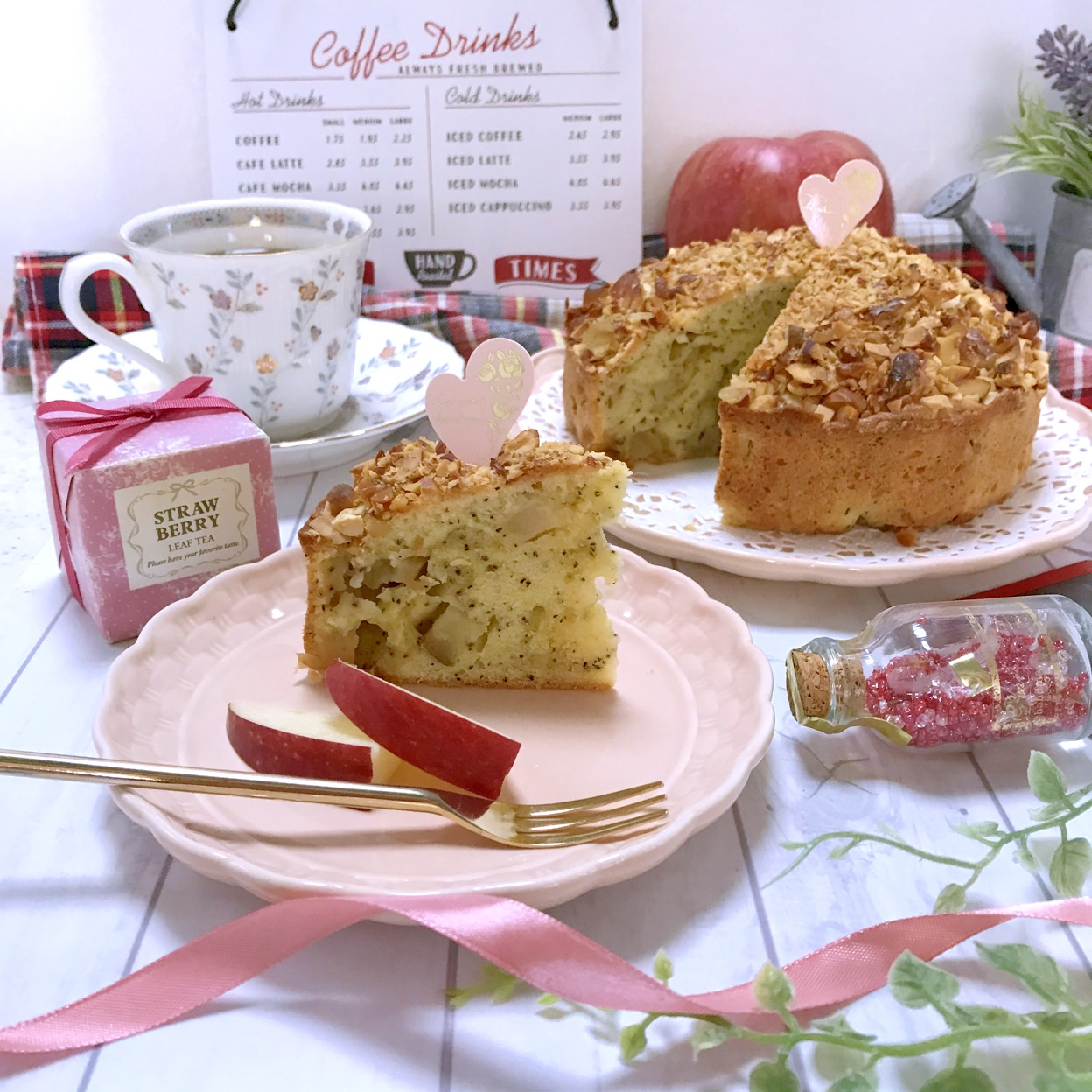 リンゴと紅茶のケーキ
