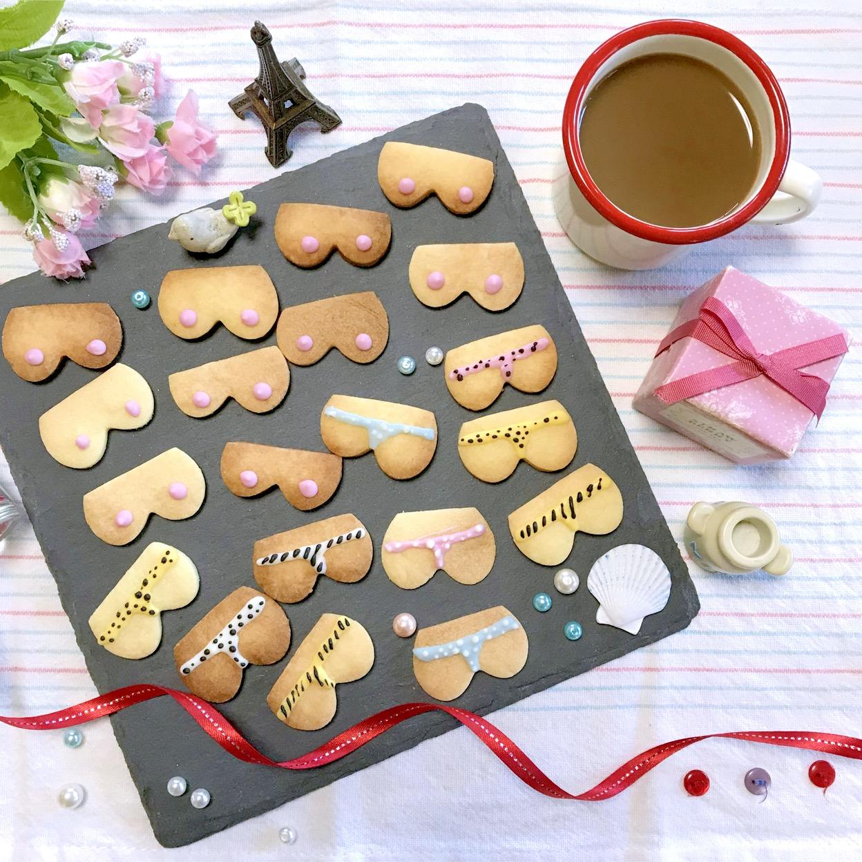 おっぱいとおしりクッキー