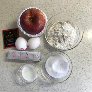 アップルティーケーキ材料