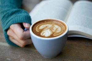 cafeで読書