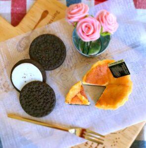 ミニチュアベークドチーズケーキ