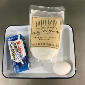 九州パンケーキの材料