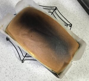 burned cake