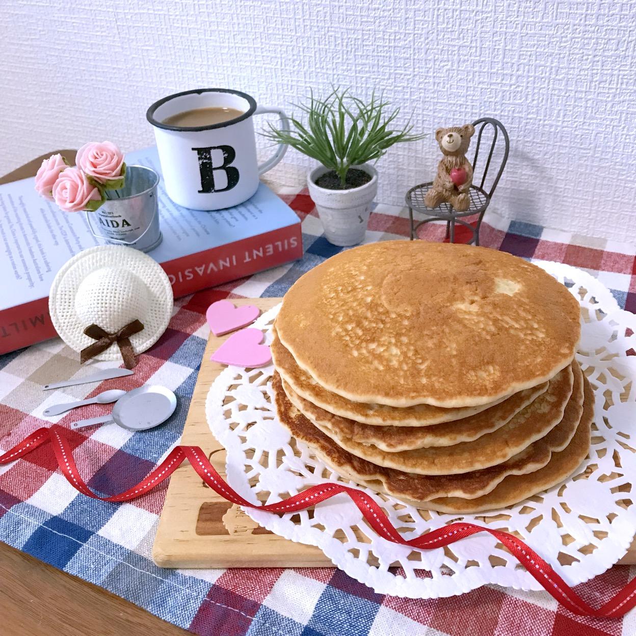 玄米粉のパンケーキ