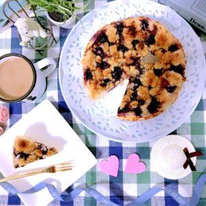 ブルーベリークランブルチーズケーキ